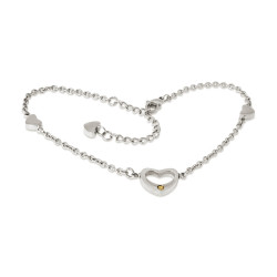 Heart Anklet-Rhodium (SS)