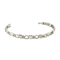 Heart Link Bracelet (Ti)